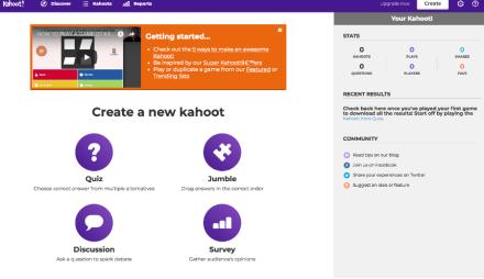 créer un kahoot