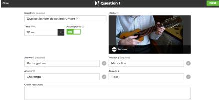 écrives vos question kahoot